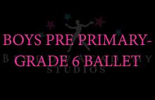 BOYS PRE PRIMARY-GRADE 6 BALLET