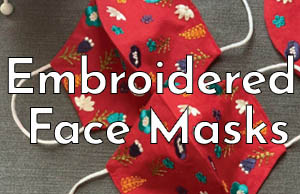 Embroidered Face Masks